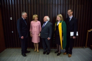 Professor Daly (to the right of An tUachtarán, Michael D. Higgins). www.ul.ie